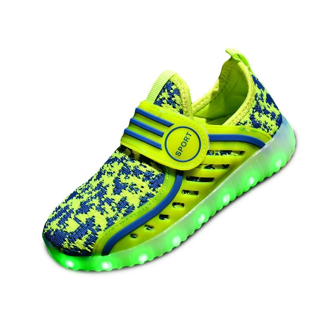 Believed Kids LED Light Up Shoes Flashing Sneakers Light Up Sport Shoes Casual Fashion Breathable Shoes