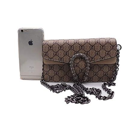fc647f53e769 Dionysoes 400249 Style Flap Chain Handbag Holder Mini Cute Crossbody Bags  Canvas Geek God Suede Lining for Women Coin Purse -Khaki Mini