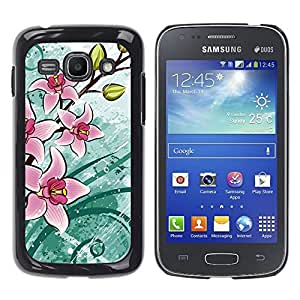 - Sun Flowers Flower Pattern - - Hard Plastic Protective Aluminum Back Case Skin Cover FOR Samsung Galaxy Ace3 s7272 S7275 Queen Pattern