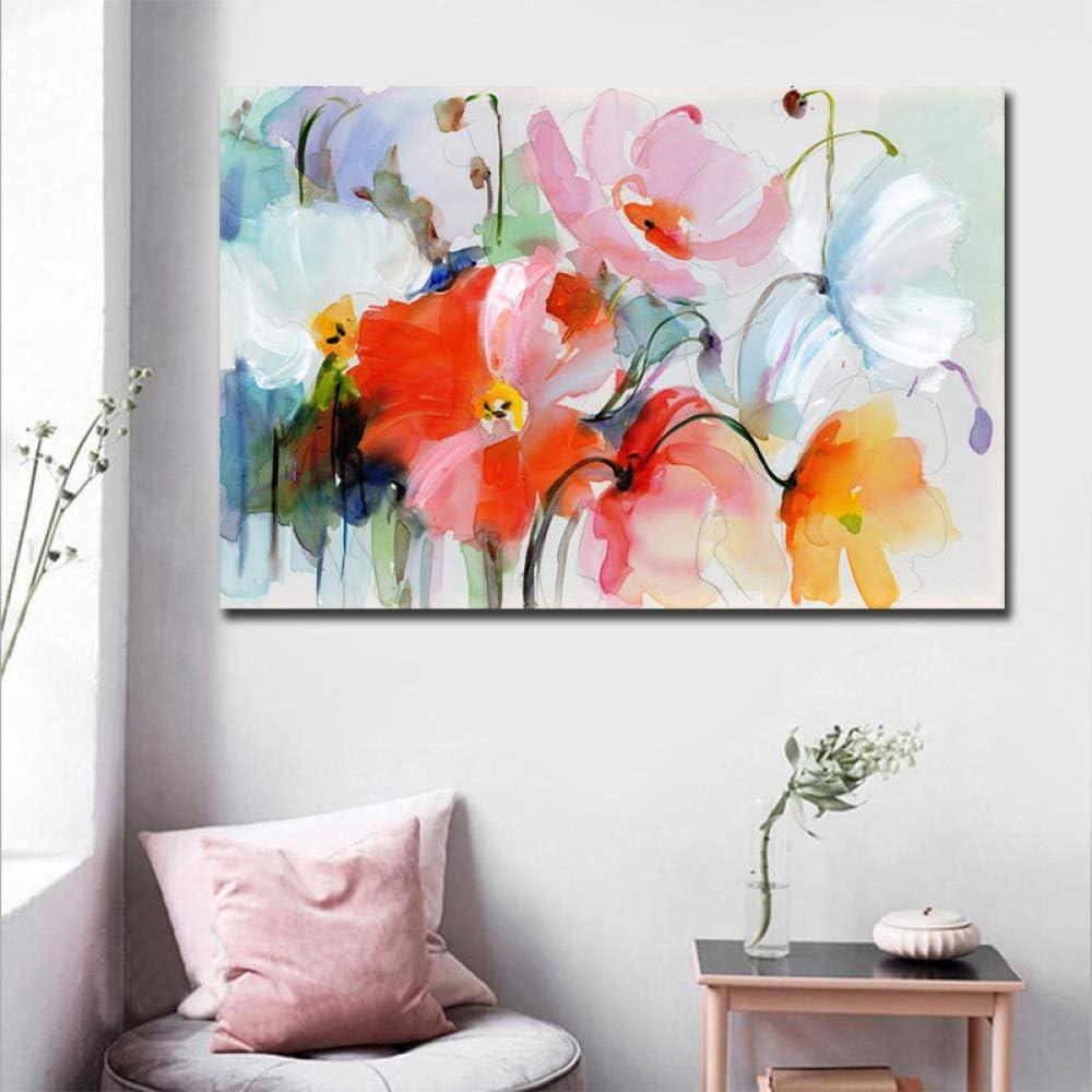 WSNDGWS Imitación Abstracta Flores pintadas a Mano, Pintura al ...