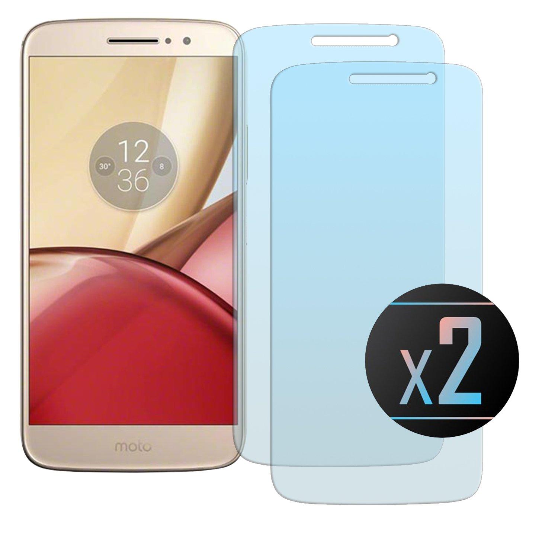 NEVEQ 2 x Cristal Templado Protector de Pantalla para Motorola Moto M Vidrio Templado, el Motorola Moto M (5.5 in) Pulgadas Piel Protectora de la Cubierta.: Amazon.es: Electrónica