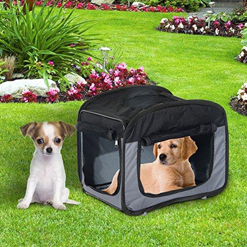 Transportin Perro Gato Plegable Mascotas 3 Tamaños + 1 Bolsa Perros Gatos PawHut (L: 76x50x50cm (LxAnxAl))