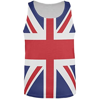 edf007a6bc5ea4 Amazon.com  British Flag Union Jack All Over Mens Tank Top  Clothing