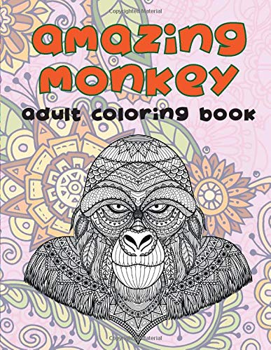 Monkey Coloring Book: An Adult Coloring Book with Fun, Easy, and ...   500x387