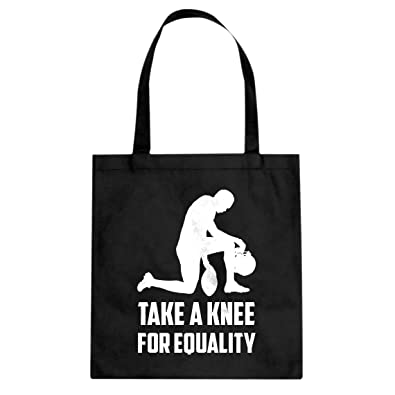 12d7a85895855 Amazon.com: Tote Players Take the Knee for Equality Large Black ...