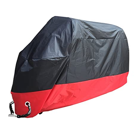Rusee belüftete Motorrad Abdeckplane Abdeckung Motorradplane Cover Roller Regenschutz, Wetterdicht Wasserdicht Staubdicht Sun
