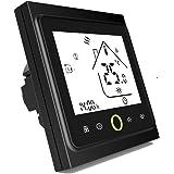 Termostato Inteligente para caldera de gas/agua,Termostato Calefaccion Wifi Pantalla LCD (pantalla TN) Botón táctil…