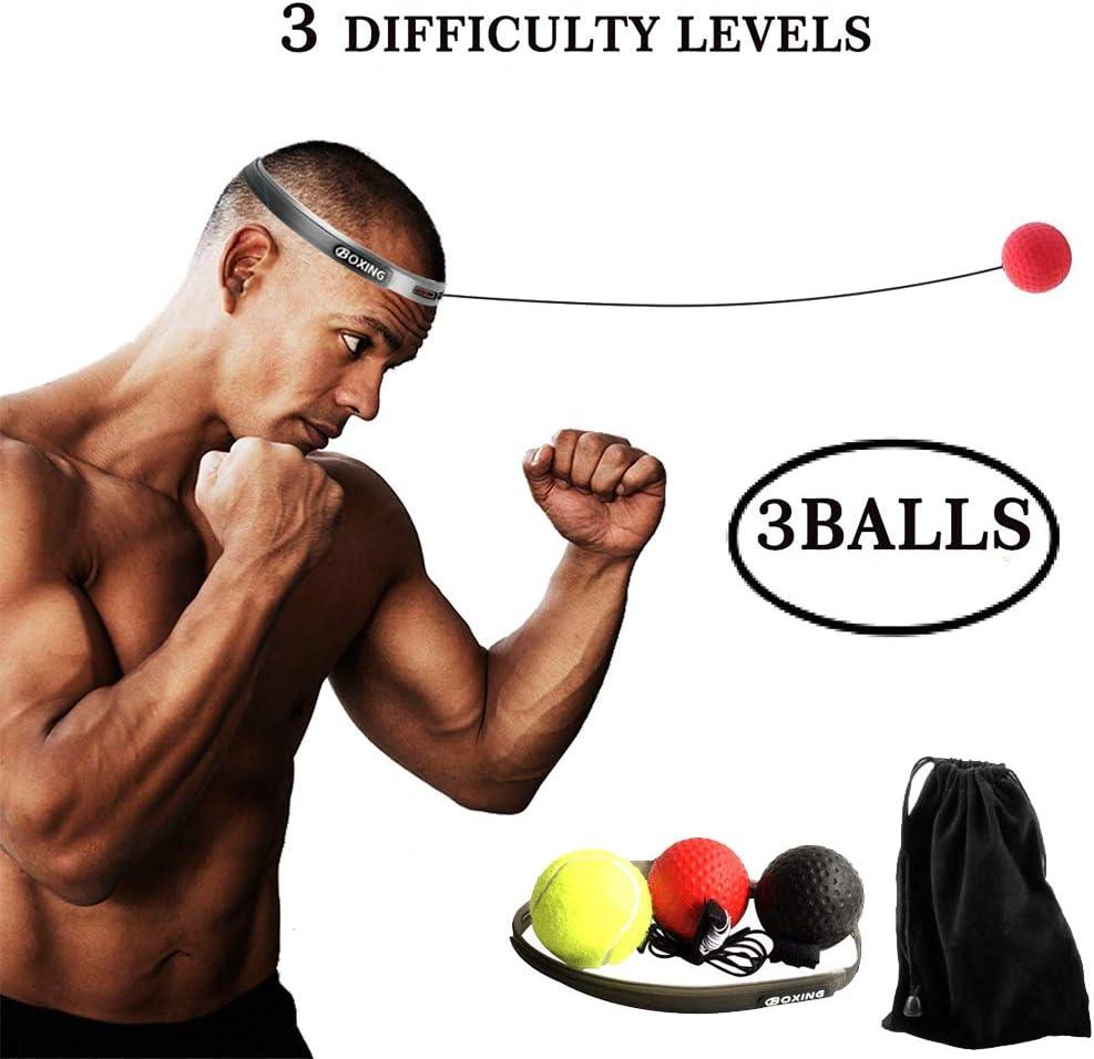GetLoveToy ボクシングファイトボールリフレックス ヘッドバンド付き 3段階の難易度 ボクシングボール機器 敏捷性反応 パンチスピード ファイトスキル 視覚と手の協調トレーニング