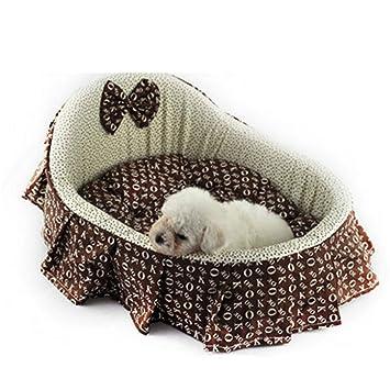 Wuwenw Cama para Mascotas Linda Coctelera De Diseño para Mascotas Cama De La Princesa Perros Pequeños
