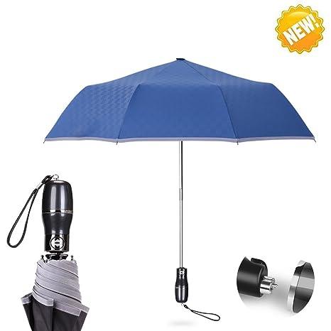 Aigumi Paraguas, se sujeta solo, impermeable, se pliega al ...