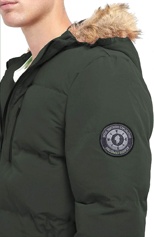 Brave Soul Mens Hooded Parka Jacket