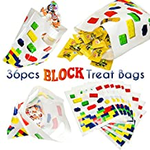 Building Block Treat Bags, 36pcs for Lego Themed Children Birthday Party