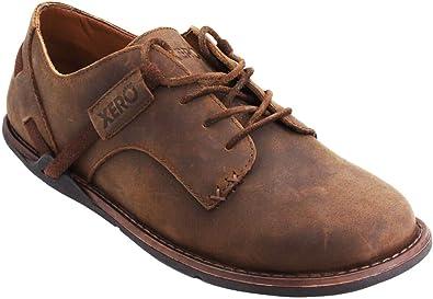Amazon Com Xero Shoes Alston Men S Minimalist Leather Dress Shoe Zero Drop Wide Toe Box Barefoot Style Caramel Oxfords