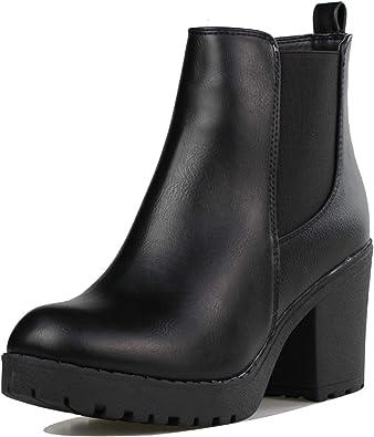 Black Booties With Chunky Heel