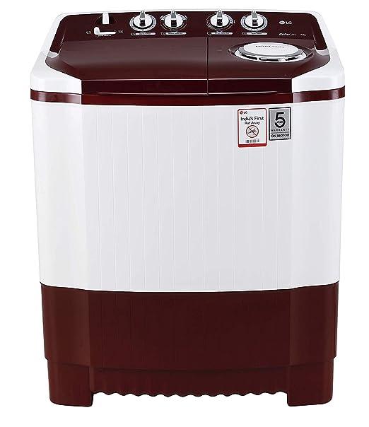 LG 7 kg Semi-Automatic Top Loading Washing Machine (P7010RRAA, Burgundy)