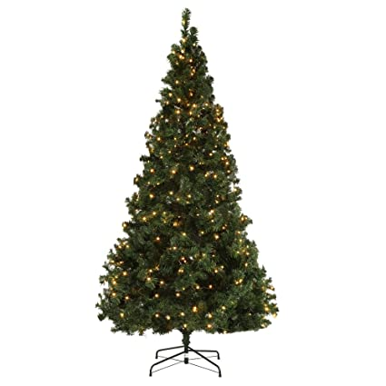 homegear deluxe 75ft artificial spruce christmas tree with metal stand prelit with 550 led