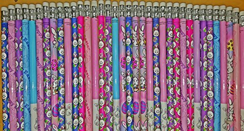 36 Easter Pencils - easter party favors and prizes - 3 dz per order