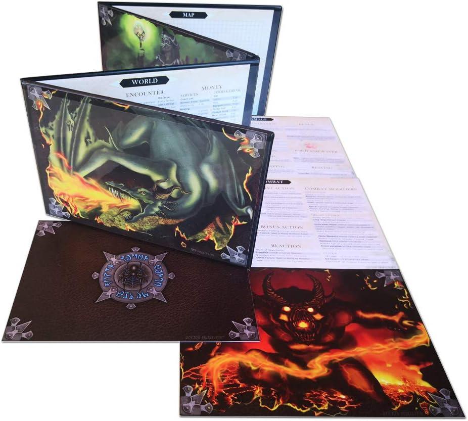 Doctor Frikistein Summoning Dungeon Master Screen | Pantalla VERSÁTIL, Personalizable, Dry-Erase para Juegos de rol