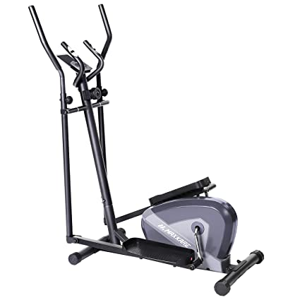 MaxKare Exercise Bike Cardio Training Elliptical Trainers-Portable Upright  Fitness Workout Bike Machine,8-Level Magnetic Resistance,LCD Monitor,Heart