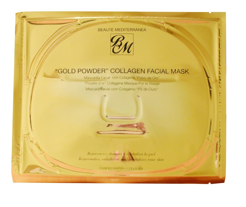 Amazon.com : BEAUTE MEDITERRANEA FACE MASK WITH COLLAGEN AND GOLD DUST : Facial Masks : Beauty