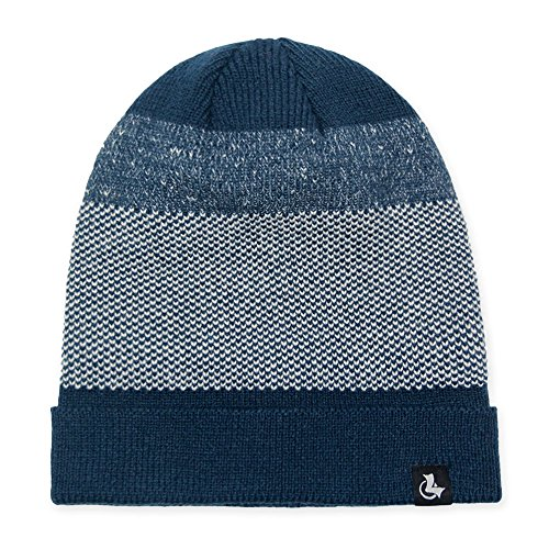 LETHMIK Mens Slouchy Cuff Beanie Mix Knit Winter Watch Cap Acrylic Skull Hat Blue