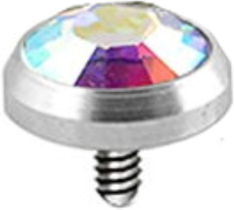 """Single 14g 1.5/"""" Side Way CZ Gem Industrial Bar Ear Ring Choose Gemstone Color"""