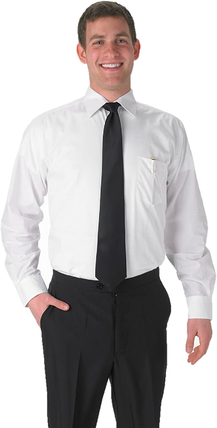 Elaine Karen Premium Mens White Long Sleeve Dress Shirt