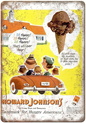 Howard Ice Johnsons Cream (Howard Johnson's Ice Cream Shop Vintaage Ad 12
