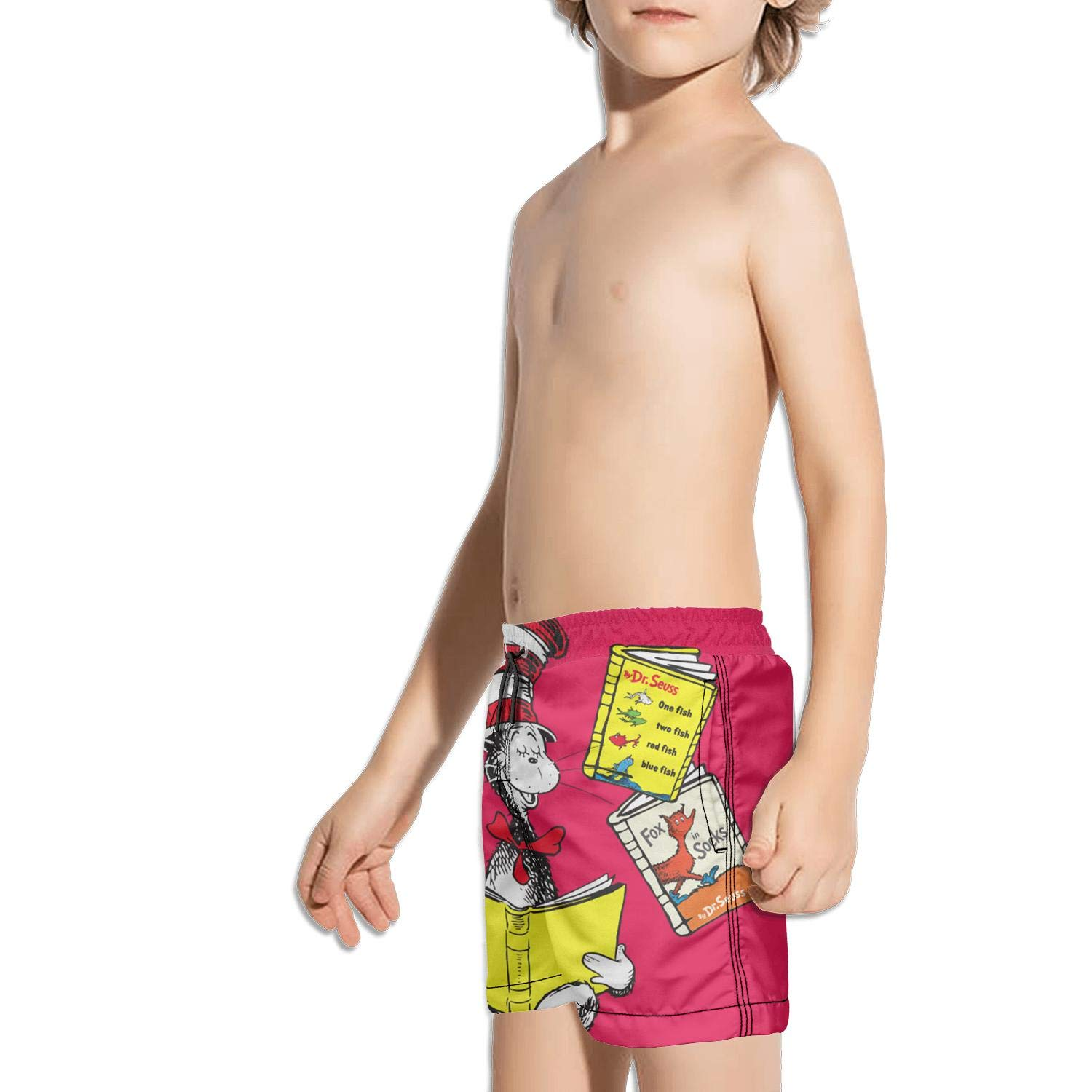 The cat in The hat Fox in Socks-Green Eggs and ham dr Seuss Extended Solid Beach Swimming Trunks Shorts