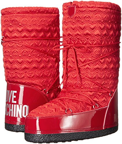 Love Moschino Women's Peace Moonboot Snow Boot, Red, 38 EU/8 M US by Love Moschino (Image #6)