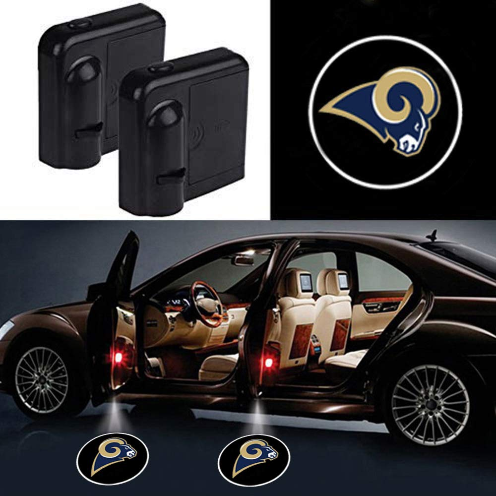 2pcs Newest Car Door Led Welcome Laser Projector Car Door Courtesy Light Suitable Fit for All Brands of Cars with New England Patriots Logo
