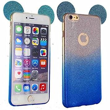 iphone 6 coque silicone paillette