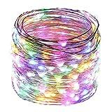 ER CHEN(TM) 66ft Led String Lights,200 Led Starry Lights on 20M Silver ...
