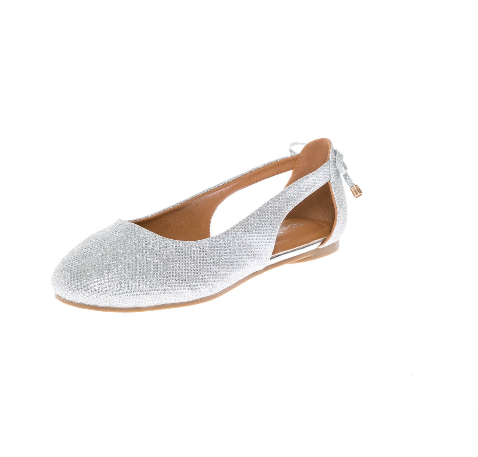 CALICO KIKI NOELLE-CK01 Women's Soft Suede Slip On Comfort Flat Shoes (8 US Silver GL)