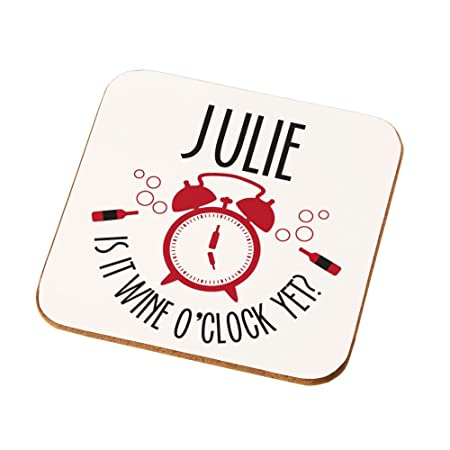 Personalised Is It Wine OClock Drinks Coaster Themed Gifts For Her
