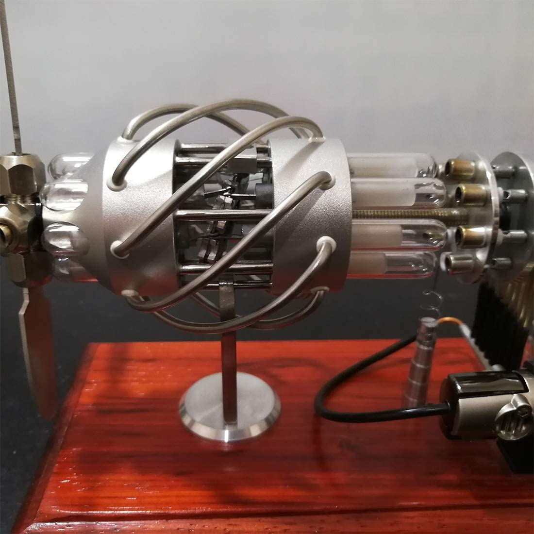 Mecotecn Mecotecn Moteur Stirling Moteur Stirling /à Air Chaud /à 16 Cylindres Stirling Engine Machine /à Vapeur Jouet /Éducatif pour Enfant et Adulte