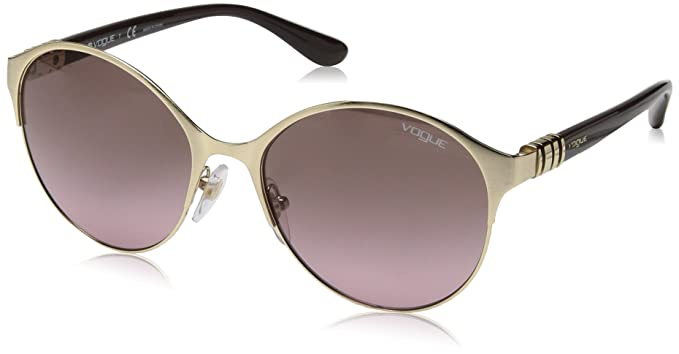 VOUGE Damen Sonnenbrille 0VO4049S 848/14, Gold (Pale Gold/Pinkgradientbrown), 55
