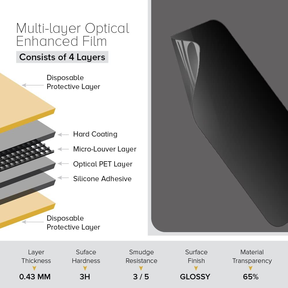 Celicious Privacy Plus 4-Way Anti-Spy Filter Screen Protector Film Compatible with LG G7 ThinQ