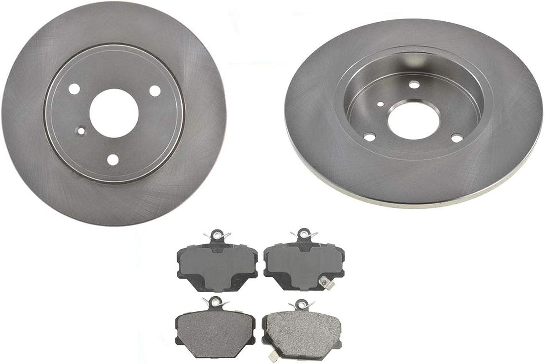 Chevrolet COLORADO 2004-2008 FRONT Brake Rotors POWERSPORT BLACK DRILL//SLOT