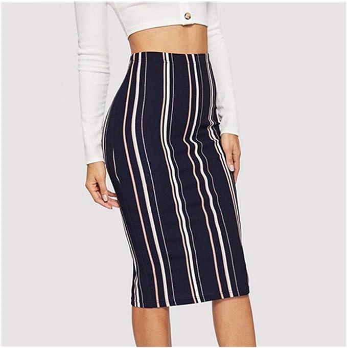 Availcx-Sexy Long Skirt Falda l¨¢PIZ Casual para Mujer Bodycon ...