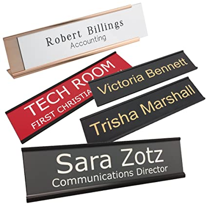 amazon com personalized name plate with wall or office desk holder