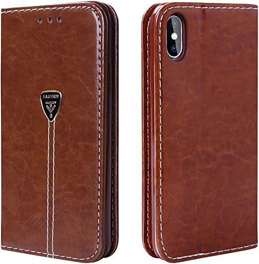 Handcrafted genuine leather two cell phone sets Double cell phone sets case wallet for iPhone 6//6s 7//8 X Plus