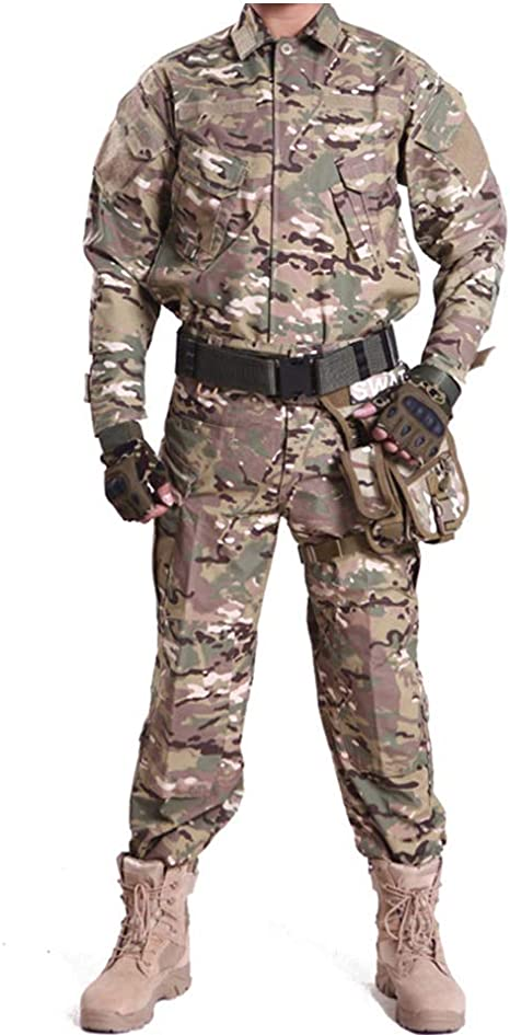 Amazon.com : HRS Men's Tactical Camouflage Suit Camo Uniform Outdoor Hunting  Trekking Camping Military Combat Suit : Sports & Outdoors