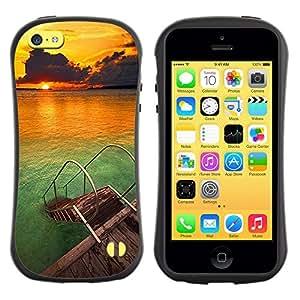 LASTONE PHONE CASE / Suave Silicona Caso Carcasa de Caucho Funda para Apple Iphone 5C / Beach Nature Sky Sun Summer