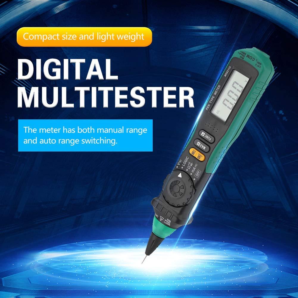 Multimetro a penna Walfront MS8211D Display LCD portatile Multimetro a penna digitale Auto Range AC//DC Tensione senza contatto Resistenza corrente Diodo Connettivit/à Rivelatore Tester