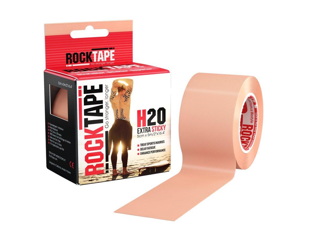 Rocktape Kinesiology Tape, H2O Roll, Beige, Uncut 16.4 Feet