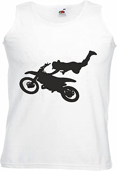 Camisa del músculo Tank Top MÁQUINA DE Motocross Silueta ...