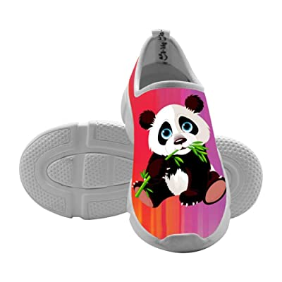 3D Printed Fly knit Cartoon Panda Sneaker Shoes Canvas for Kids
