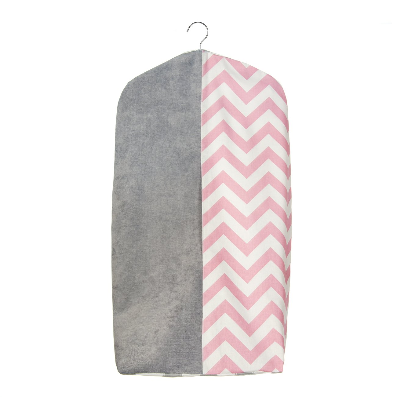Layered Crib Diaper Stacker in Pink