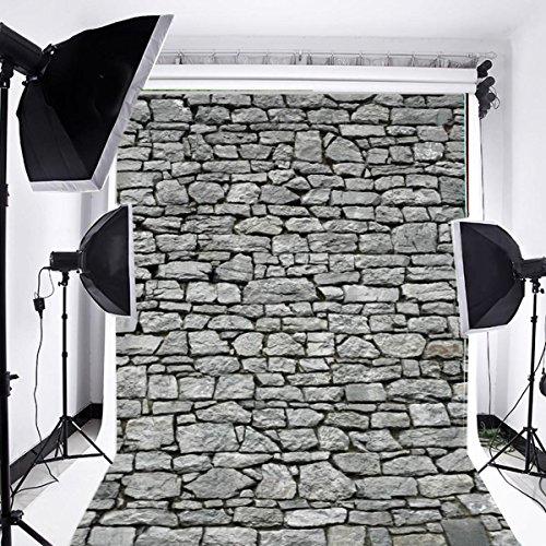 Laeacco Customizable 5x7ft Vinyl Photography Backdrop Rock Stone Brick Wall Theme Photo Shooting Home Decor Party Festival Scene 1.5(w) x2.2(h) m Background Photo Studio Props]()